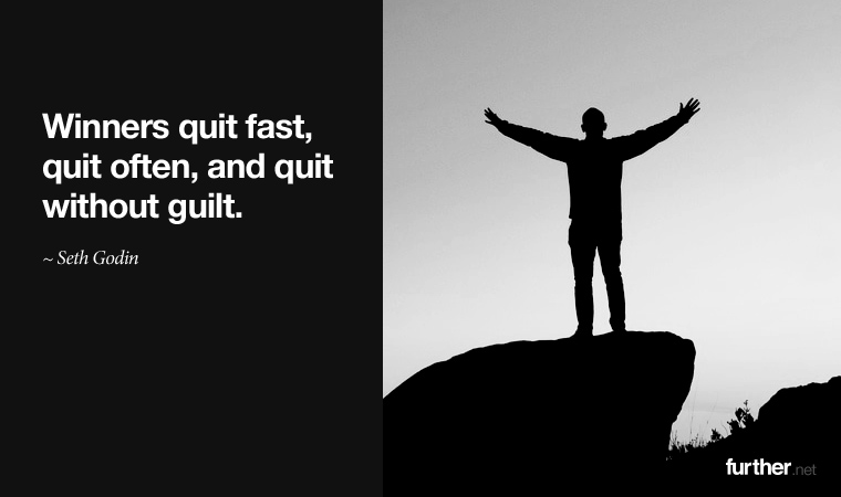 the virtue of quitting further