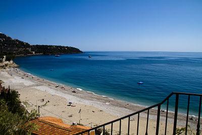 The beach near Roquebrune-Cap-Martin